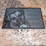 8.5 x 11 x 3/8 Granite Memorial Plaque