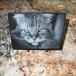 6 x 6 x 3/8 Black Marble Plaque