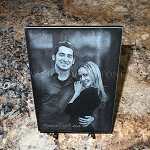 5 x 7 x 3/8 Black Marble Plaque