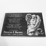10 x 16 x 2 Granite Angel Memorial