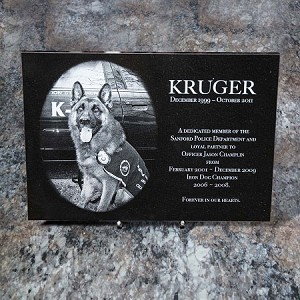 6 x 8 x 3/8 Black Marble Plaque